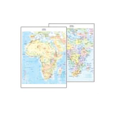 Cartina Giografica Africa.Cartina Geografica Fisico Politica 29 7x42 Africa Cartine Geografiche Plastificate Belletti Editore