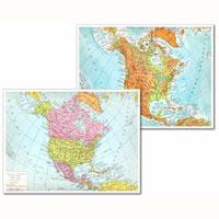America Settentrionale Cartina Geografica Politica.Cartina Geografica Fisico Politica 29 7x42 America Settentrionale Cartine Geografiche Plastificate Belletti Editore