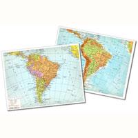 Cartina Fisica America Meridionale.Cartina Geografica Fisico Politica 29 7x42 America Meridionale Cartine Geografiche Plastificate Belletti Editore